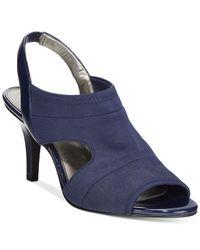 Bandolino | Blue Menorie Peep-toe Sandals | Lyst