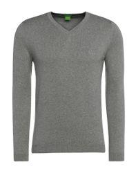 BOSS Green | Gray Knitted Sweater: 'c-carlton' for Men | Lyst