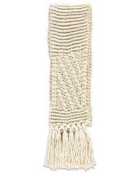 Forever 21   Natural Chunky Ribbed Scarf   Lyst