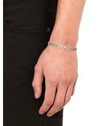 Saint Laurent | Metallic Chain Silver Bracelet for Men | Lyst