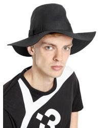 Y-3 - Black Yohji Nylon Fedora for Men - Lyst