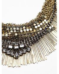Free People - Metallic Royal Mesh Collar - Lyst