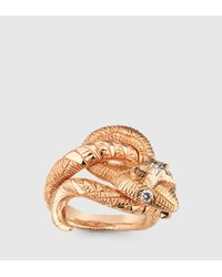 Gucci | Metallic Flora Serpent Ring | Lyst