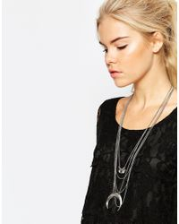 Pieces | Metallic Kallie Necklace | Lyst