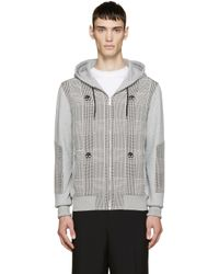 Alexander McQueen | Gray Grey Prince Of Wales Skull Print Hoodie for Men | Lyst