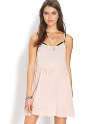 Forever 21 - Pink Darling Babydoll Dress - Lyst