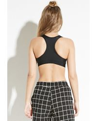 Forever 21 | Black Civil Racerback Sports Bra | Lyst