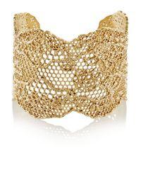 Aurelie Bidermann - Metallic Vintage Lace Gold-plated Cuff - Lyst