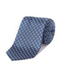 Armani - Blue Patterned Tie for Men - Lyst