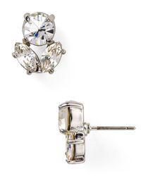 kate spade new york - Metallic Encrusted Petals Cluster Stud Earrings - Lyst