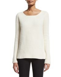 Michael Kors - White Chunky-knit Cashmere Sweater - Lyst