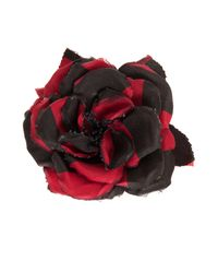Alessandra Rich - Red Silk Flower Pin - Lyst