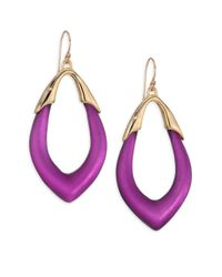 Alexis Bittar | Purple Lucite Marquis Orbit Drop Earrings | Lyst