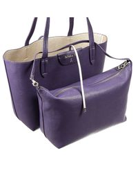 Patrizia Pepe - Purple Leather Shopper - Lyst