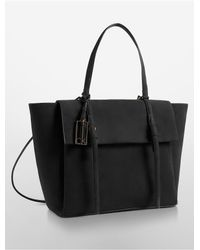Calvin Klein - Gray Cecilia Wing Courier Bag - Lyst