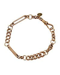 Annina Vogel | Metallic 9ct Gold Mixed Link Bracelet | Lyst