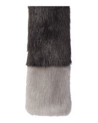 Helen Moore - Gray Exclusive Tippet Faux Fur Scarf - Lyst