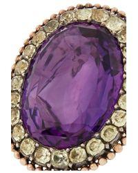 Olivia Collings - Purple 1840S 18-Karat Gold, Amethyst And Chrysoberyl Ring - Lyst