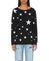 Wildfox | Black Disco Star Jersey Sweatshirt | Lyst