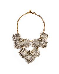 Lulu Frost - Metallic Cactus Flower Statement Necklace - Lyst