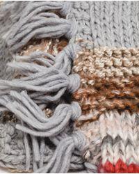 Zara | Gray Chunky Knit Scarf | Lyst