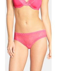 Natori | Pink 'bliss' Lace Bikini | Lyst