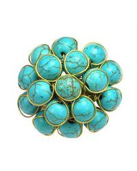 Aeravida | Unique Handmade Front Cluster Blue Stone Organic Ring | Lyst
