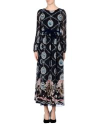 RED Valentino - Blue Long Dress - Lyst