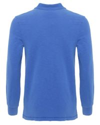 Napapijri - Blue Esauf Long Sleeve Polo Shirt for Men - Lyst