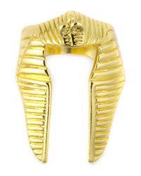 Black Scale | Metallic Gold Pharaoh Nemes Ring for Men | Lyst