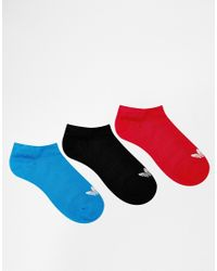 Adidas | Blue Originals 3 Pack Trefoil Liner Socks for Men | Lyst