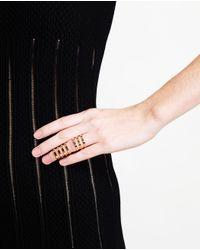Repossi | Metallic Berbère 18-karat Gold Interlinking Ring | Lyst