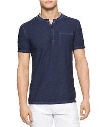 Calvin Klein Jeans | Blue Modern Fit Reverse Slub Cold Pigment Dye Henley for Men | Lyst