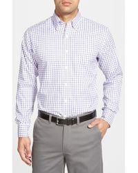 Peter Millar - Multicolor 'nanoluxe' Regular Fit Wrinkle Free Tattersall Twill Sport Shirt for Men - Lyst