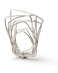 Linnie Mclarty | Metallic Wrapt Square Sterling Silver Ring | Lyst