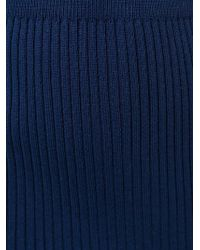Jacquemus - Blue Knitted Skirt - Lyst