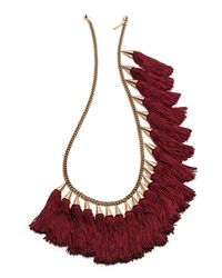 Eddie Borgo | Metallic Silk Tassel Spray Necklace | Lyst