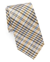 Vince Camuto | Yellow Plaid Silk Tie for Men | Lyst