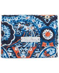 Vera Bradley | Blue Small Trifold Wallet | Lyst
