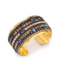 Erickson Beamon | Metallic Lady Of The Lake Crystal Cuff Bracelet | Lyst