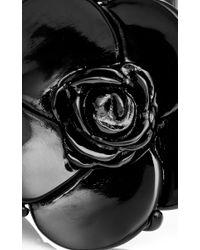 Oscar de la Renta - Black Resin Flower Bracelet - Lyst