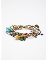 Free People - Multicolor Stack Em Up Beaded Bracelet - Lyst