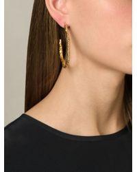 Aurelie Bidermann   Metallic 'tao' Hoop Earrings   Lyst