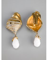 Valentino - Metallic Drop Shell Earring - Lyst