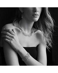 David Yurman - Metallic Willow Threerow Collar Necklace with Diamonds - Lyst