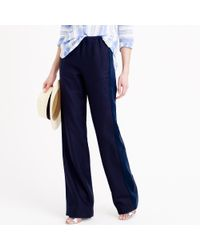 J.Crew | Blue Collection Tuxedo-striped Linen Pant | Lyst