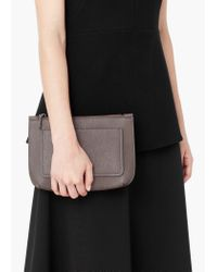 Mango - Gray Pocket Cross Body Bag - Lyst