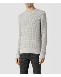 AllSaints | Gray Kargg Crew Sweater for Men | Lyst