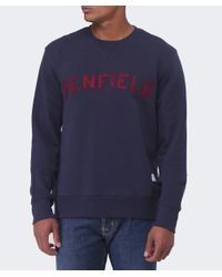 Penfield | Blue Crew Neck Brookport Sweatshirt for Men | Lyst
