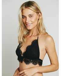 Free People | Black Seaglass Soft Bra | Lyst